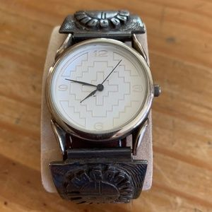 Men's Silver Southwestern Watch